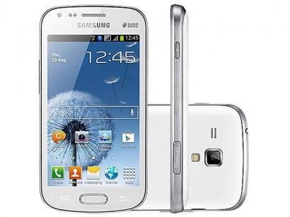 "Smartphone Dual Chip Samsung Galaxy S Duos - Android 4.0 Câmera 5MP Tela 4"" Proc. 1 Ghz Wi-Fi"