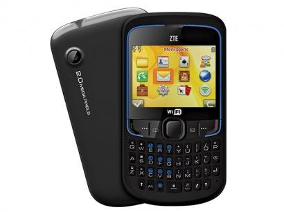 Celular Dual Chip ZTE R270 Teclado Qwerty - Wi-Fi Câmera 2MP Bluetooth MP3 Player